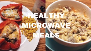 3 HEALTHY MICROWAVE MEALS // DORM FRIENDLY