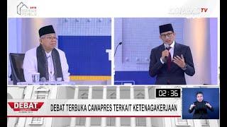 DEBAT PILPRES 2019 - Cawapres Sandiaga Uno: Tenaga Kerja Asing Harus Bisa Berbahasa Indonesia