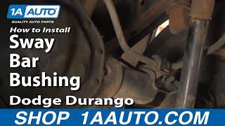 Replace Rear Sway Bar Bushing
