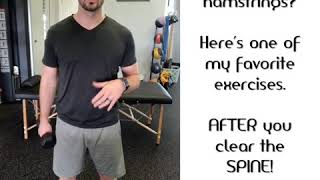 Tight Hamstrings?⁣ Here's one of Dr. Dustin's favorite exercises!
