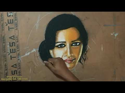 portrait rangoli design of a woman