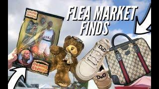 GUCCI FOUND!BURBERRY!D&G! FLEAMARKET FINDS Trip To The Thrift #348