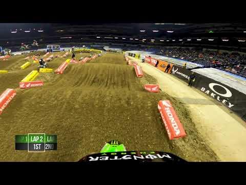 2021年 スーパークロス第4戦インディアナポリス1の450SX Adam Cianciarulo選手のGoPro動画