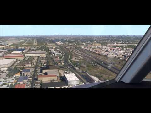 Landing at Congonhas Airport SBSP / SUNSET / FULL HD / X