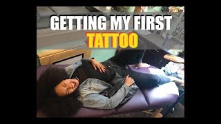 Getting My First Ankle Tattoo **low Pain Tolerance