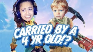 Youngest Fortnite Player Ever?! - Valkyrae Fortnite Highlights