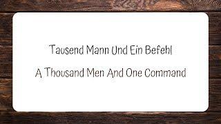OOMPH! - Tausend Mann Und Ein Befehl (Lyrics + English Translation)