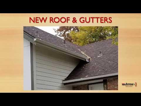 A customer of Arrow Renovation's needed new gutters and new shingles. So we installed Driftwood Owens Corning shingles and new white gutters.