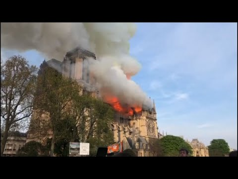 """The deputy mayor of Paris says Notre Dame Cathedral has suffered """"colossal damages"""" from a fire that started in the spire and caused it to collapse. (April 15)"""