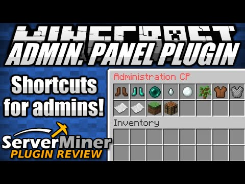 How to add tools for Server Admins in Minecraft with Admin Panel Plugin
