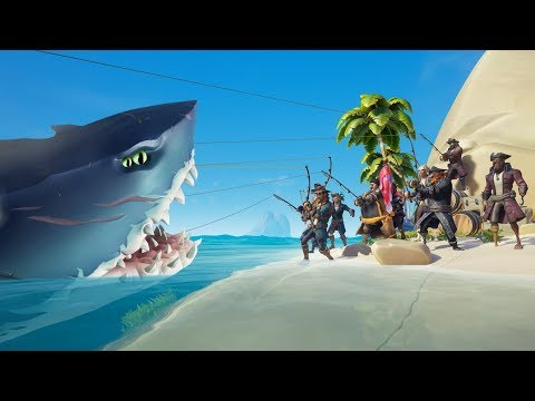 Fishing the MEGALODON in Sea of Thieves!