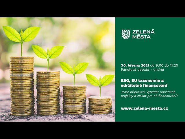 ESG, Taxonomie EU a udržitelné financování