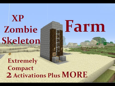 Tutorial : XP - Zombie or Skeleton Farm Extremely Compact Plus MORE on