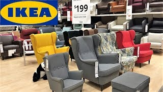 IKEA COFFEE TABLES ARMCHAIRS CHAIRS LIVING ROOM FURNITURE SHOP WITH ME SHOPPING STORE WALK THROUGH