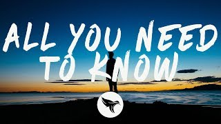 Gryffin & Slander   All You Need To Know (Lyrics) Ft. Calle Lehmann