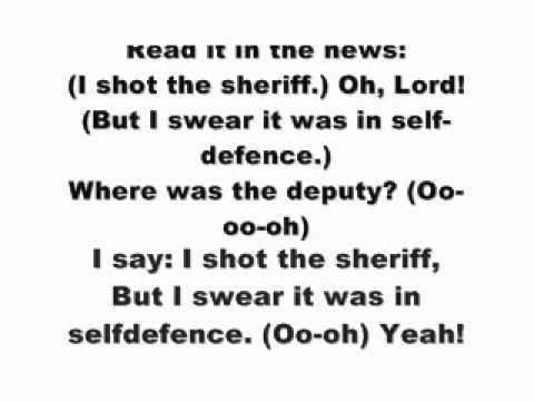 Bob marley - i shot the sheriff  with Lyrics on screen