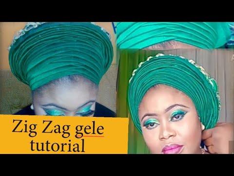 HOW TO TIE ZIG ZAG GELE. BEGINNERS FRIENDLY.