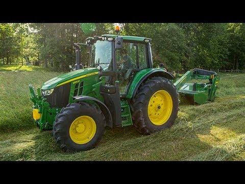 John Deere 6195M 216 hk traktor - film på YouTube
