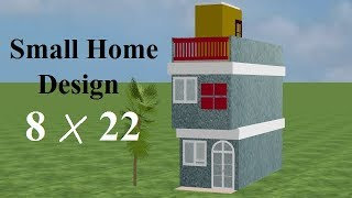 8 By 22 New 3d Home Design, 8*22 House Plan,small House Plans Free