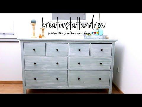 DIY - Möbel streichen mit Kreidefarbe ohne Schleifen | French Country Look | Tutorial