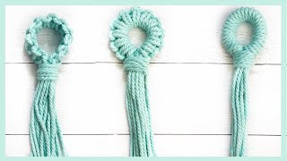 3 Ways To Start A Macrame Plant Hanger With NO RING