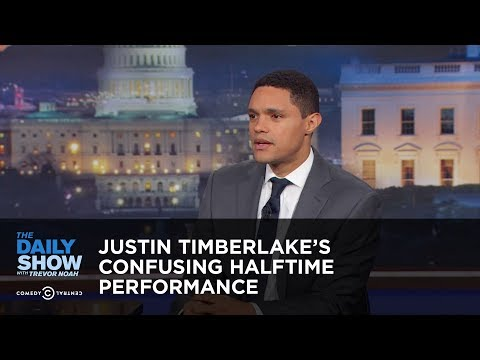 Between the Scenes – Justin Timberlake's Confusing Halftime Performance: The Daily Show