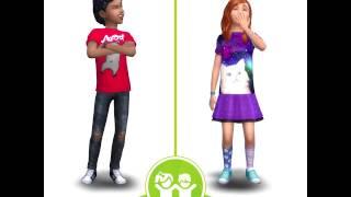 The Sims 4 Детская комната — сравнение нарядов