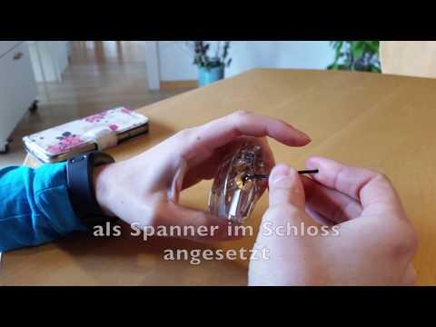 Schloss knacken Anleitung mit Haarklammer einfachste Variante