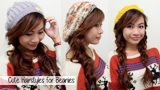 Cute Hairstyles To Wear With Beanies Berets L Fall Winter Ha