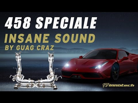 Ferrari 458 Speciale with iPE INSANE sound. iPE's relentless pursuit of perfection