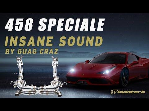 Ferrari 458 Speciale with iPE INSANE sound. iPE's relentless pursuit of perfection