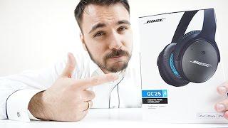 Bose® QuietComfort® 25 (QC25) Acoustic Noise Cancelling® Headphones - Unboxing - Dr. UnboxKing
