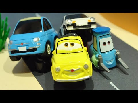 Disney Cars 3 : Lightning McQueen's Friend! Luigi and Guido! - StopMotion