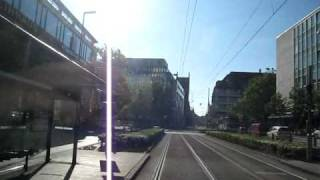 preview picture of video 'A ride on Tram 17 in Munich'
