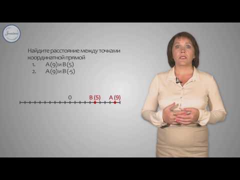Расстояние между точками координатной прямой