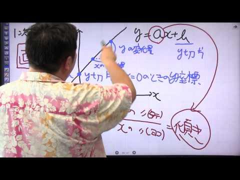 酒井のどすこい!センター数学IA #006 中学の復習 1次関数と2次関数