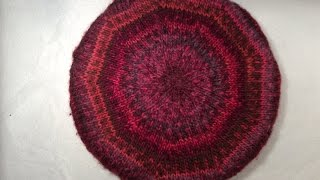 How to knit a flat round circle