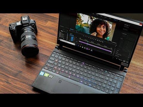 Gigabyte Aero 15 OLED Nvidia RTX Studio Laptop Vs Macbook Pro 8K in Adobe Premiere Pro 2019