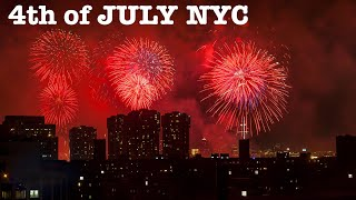 NYC LIVE Macy's 4th of July Fireworks from Rooftop in Manhattan New York City July 4, 2021