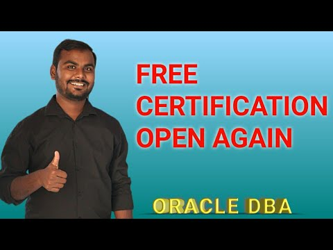 Oracle Free Certification Open Again    Hurry Up - YouTube