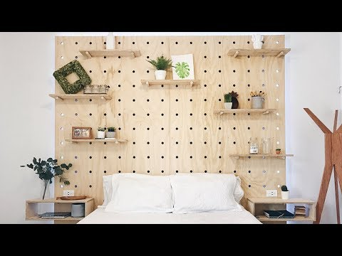 DIY Mid Century Modern Bed With Light Up Headboard! | Woodworking