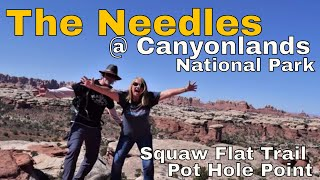 Needles at Canyonlands National  Park. Squaw Flats Trail. Pot Hole Point. Newspaper  Rock.