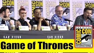 GAME OF THRONES | Comic Con 2019 Full Panel (Maisie Williams, Nikolaj Coster-Waldau, Jacob Anderson)