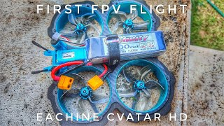 First day flying FPV after 20h on Liftoff simulator | DJI DVR | Eachine Cvatar 6s