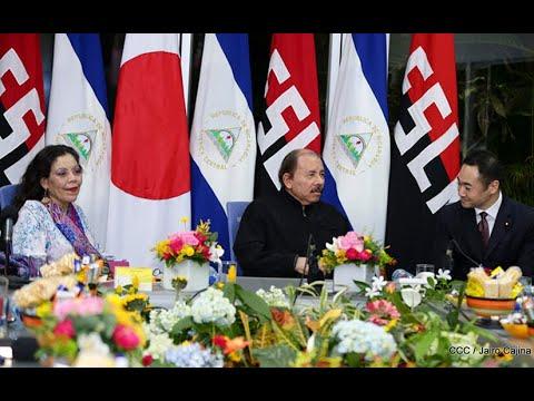 Presidente Daniel Ortega y Compañera Rosario sostienen encuentro con Ministro de Estado para Asuntos Exteriores de Japón