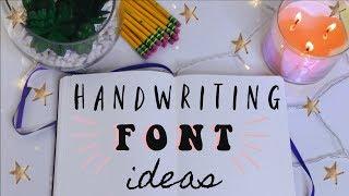 Handwriting Ideas + Note Taking Fonts | Tarrah Hodge