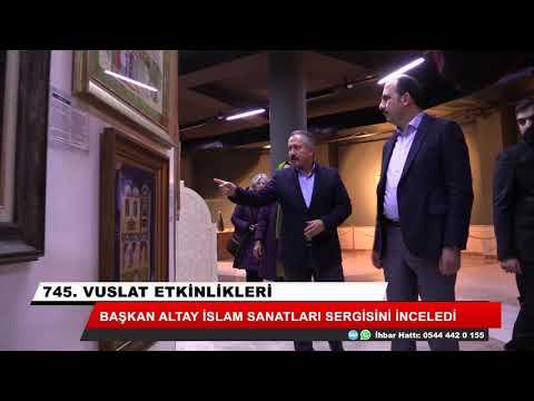 Başkan Altay İslam Sanatları sergisini gezdi