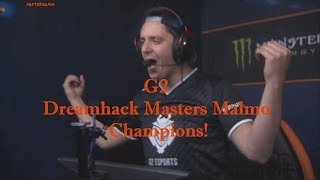 G2 champions! 🏆 Dreamhack Masters Malmo 2017 @ Winning moment 2:0 vs North wins Grand Final