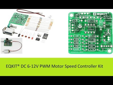EQKIT® DC 6-12V PWM circuit for variable speed DC motor from Banggood.com
