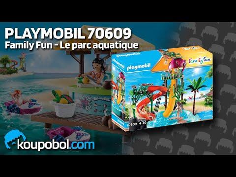 Vidéo PLAYMOBIL Family Fun 70609 : Parc aquatique avec toboggans